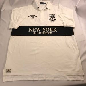 Shirt Size XLT White NY New York Athletic Rugby Cl